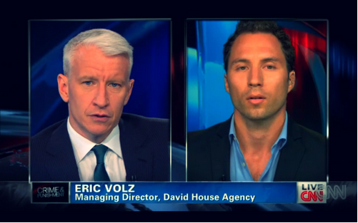 David House Agency, International Crisis Management Agency, managing director Eric Volz on CNN